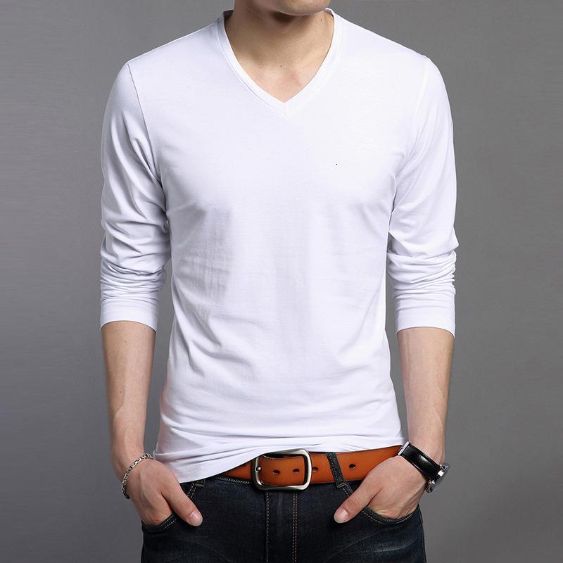 Autunno 2021 Nuovo T-shirt a manica lunga con scollo a V con scollo a V a maniche lunghe