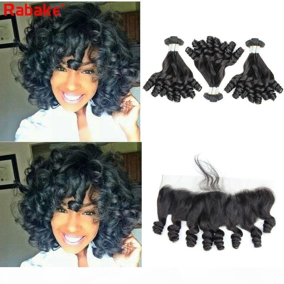 Remy Aunty Funmi 정면 라바이크 Anty Funmi Curly Hair Boucy Romance 컬 브라질 큐티클 정렬 헤어 확장