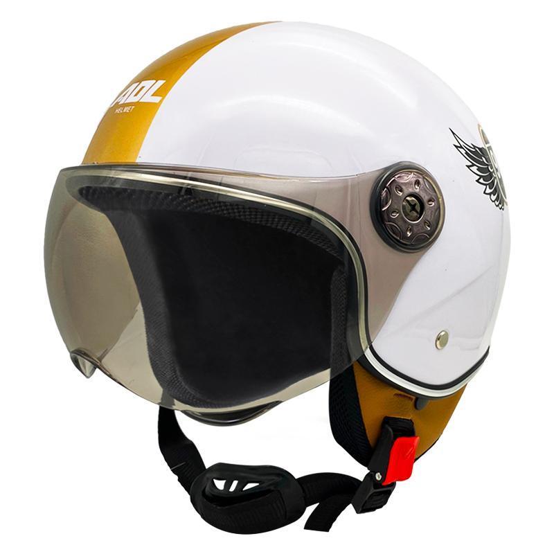 Nuevo casco de motocicleta, casco eléctrico de cuatro estaciones, gris, grande
