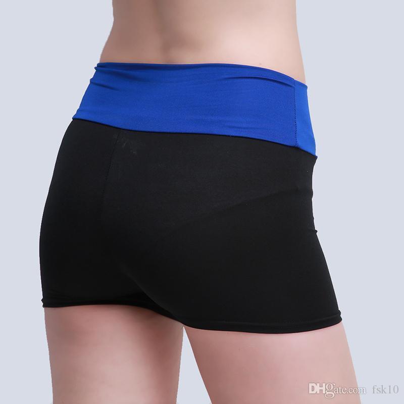 Yeni Kadın Yoga Şort Spor Patchwork Renk Spor Tayt Spor Koşu Koşu Yoga Şort Kadın 6 Renkler KG-16