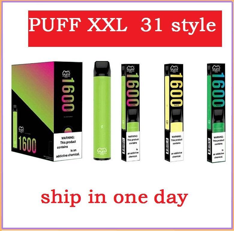 Puff XXL 1600 puffs descartáveis vape caneta pré enchido vagens Vape cartucho barras puff bars e cigarro