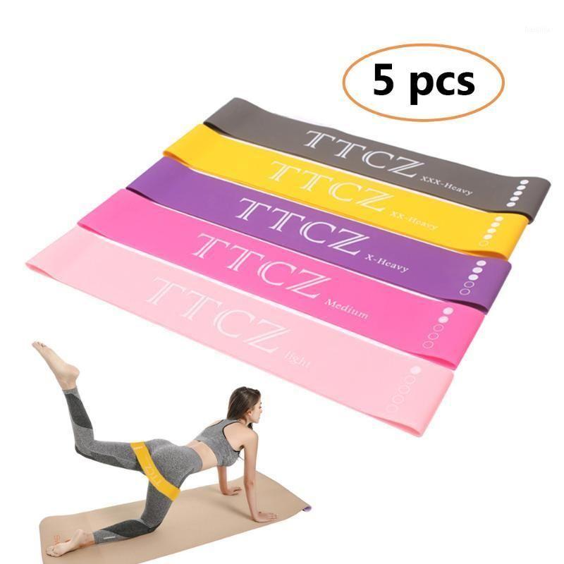Резистическая полоса 5 шт. Резиновая резина Резина Yoga Тренировки спорта Sportand Eurestal Band для обучения Expander Fitness Fund Trade Seather1