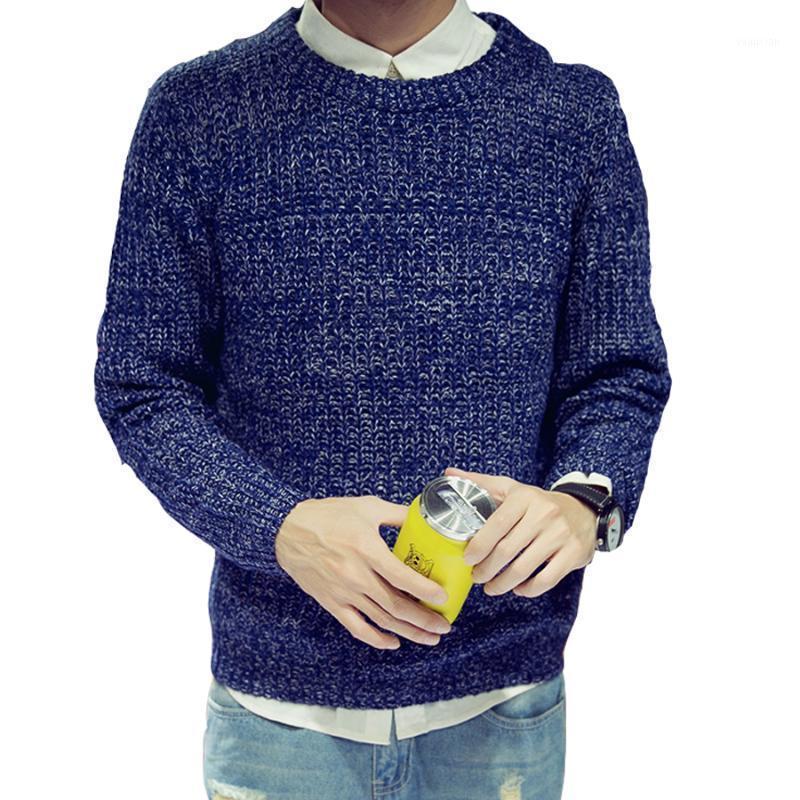 Hot hombres suéter otoño invierno manga larga o-cuello jerseys delgado casual tamaño grande sólido de alta calidad moda ropa de moda cálido Tops1
