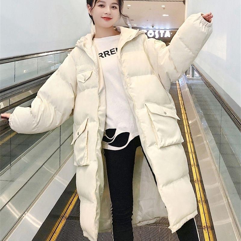 Inverno New Womens Ins grosso Down Jaqueta Acolchoado Versão Coreana Loose Mid-Length Acolchoado Jaqueta De Inverno Tide Y201012
