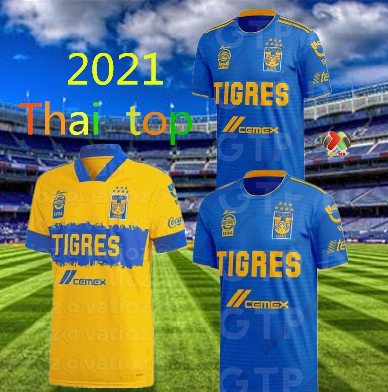 Size: S-4XL Tigres 2019 2020 جديد 7 نجوم 9 Vargas 10 Gignac 20 Aquino 8 Zelarayan 4 H.ayala 3 Juninho 18 Sosa Thai Quality Soccer Jersey