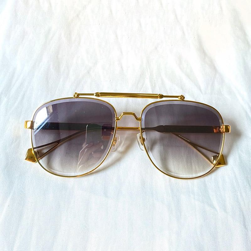 0973 New Fashion Sunglasses With UV Protection for men Vintage oval metal Frame popular Top Quality Come With Case classic sunglasses
