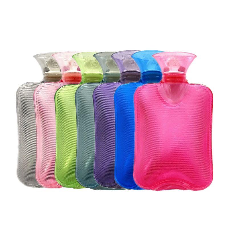 통증 JK2011XB에 대한 2000ml의 뜨거운 물 병 단색 두꺼운 PVC 관개 손 따뜻하게 폭발 방지 휴대용 온수 가방