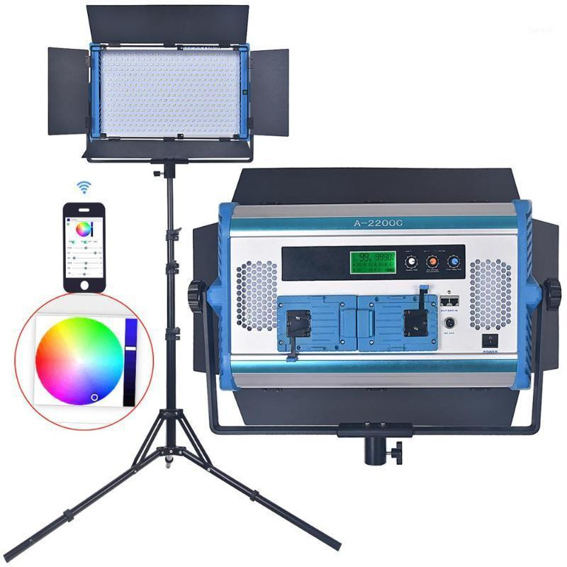 Teste flash Fosoto A-2200C Light Pografica RGB Lampada LED LED 2800K-9999K Temperatura 180W con Mobile App Remote Control Software Treppod1