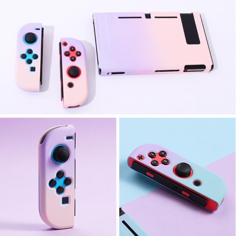 لعبة تحكم المقود للتبديل حالة قذيفة الوردي الكمبيوتر الصلب الغلاف الخلفي قبضة NS مصغرة ألعاب الملحقات 1