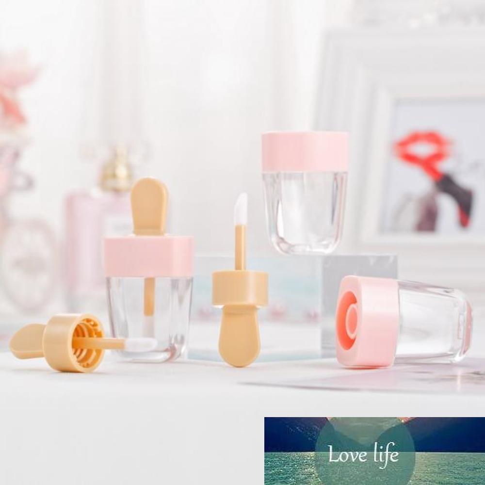 1pcs vacío brillo de labios tubos linda forma del helado de envases de los tarros cosméticos transparentes Crema de cacao rellenable Botella herramientas de composición de bricolaje