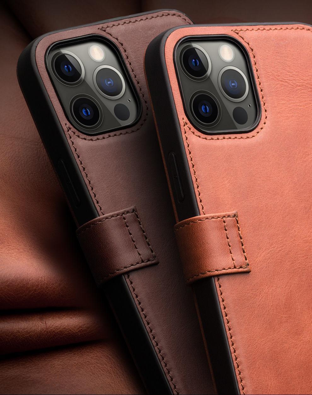Кожаная оболочка из кожи ручной работы оболочкой для телефона и применить к iPhone 12, 12 Pro