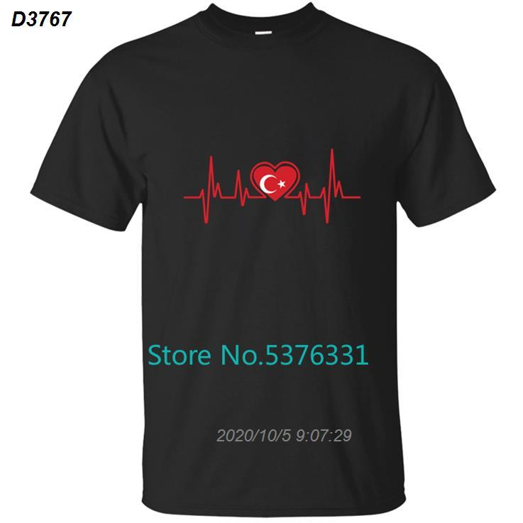Moda Turquía Vacaciones corazón la camiseta para hombre camiseta de los hombres camiseta para hombres de color sólido del O-Cuello Enfriar 2020 2019 Tops Design Hombres 4915510