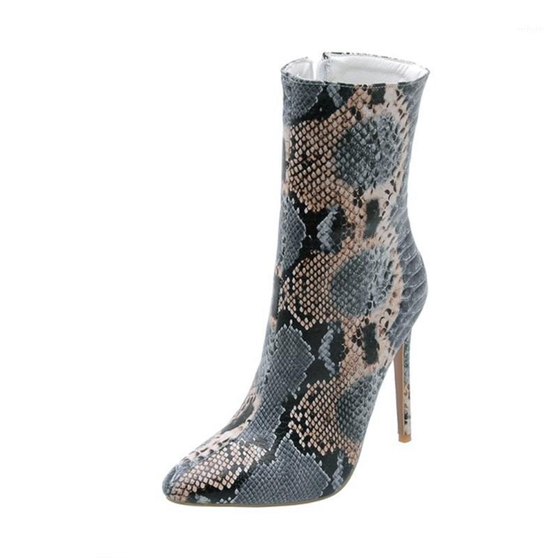 Mode Frauen Botas Mujer Winterfell oder Nein Big Größe 33-48 Neue Runde Zehe Schnalle Stiefel Frauen Casual High Heels 12cm Schuhe 8-91