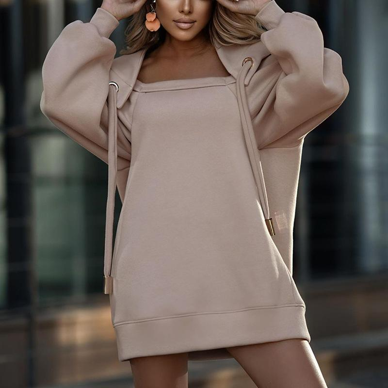 Fashion old girls hooded sweatshirt backless thicken long sleeve pullover women sexy jumper tops A5040