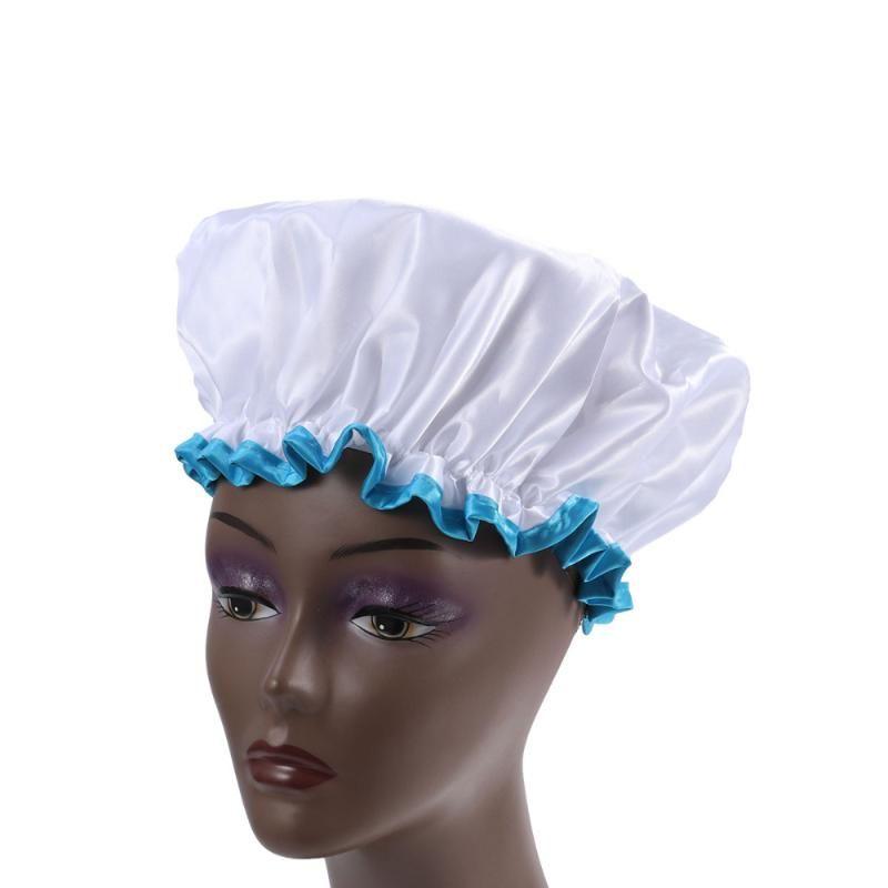 Cap Bath 1pcs Mold resistente chuveiro Waterproof Cap Salon Chapéu de banho Hat para meninas