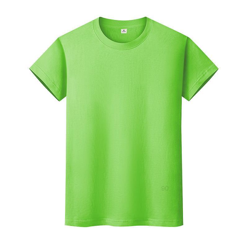 Новая круглая шея сплошная цветная футболка летняя рубашка хлопчатобумажная рубашка с короткими рукавами и женским половиной рукава QPR3I