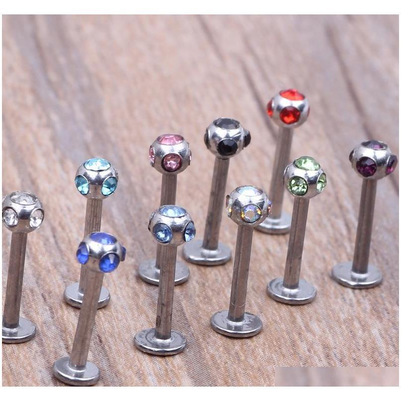 Labret Monroe Ring Lip Aço Inoxidável Bar Body Piercing Jóias 5 GE SQCARQ Queen66