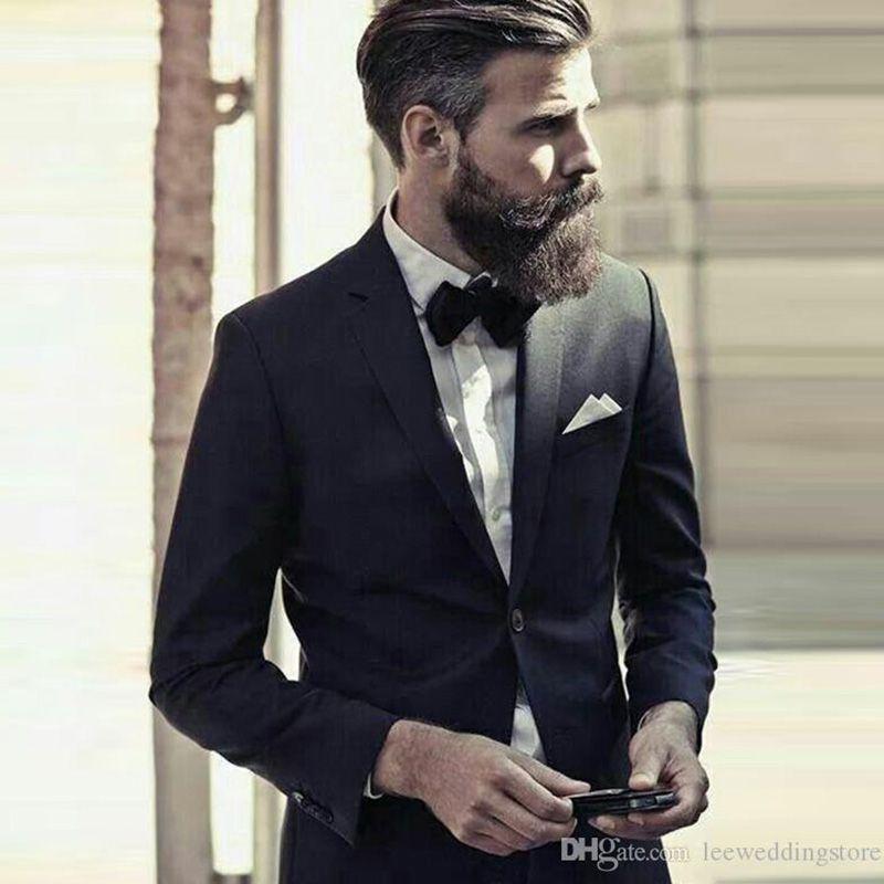 2021 Мужские костюмы Черные свадебные костюмы для мужчин Blazer Bridegroom Groomsmen Groom износ на заказ SLIM FIT FUXEDOS BEST MAN PROM 2
