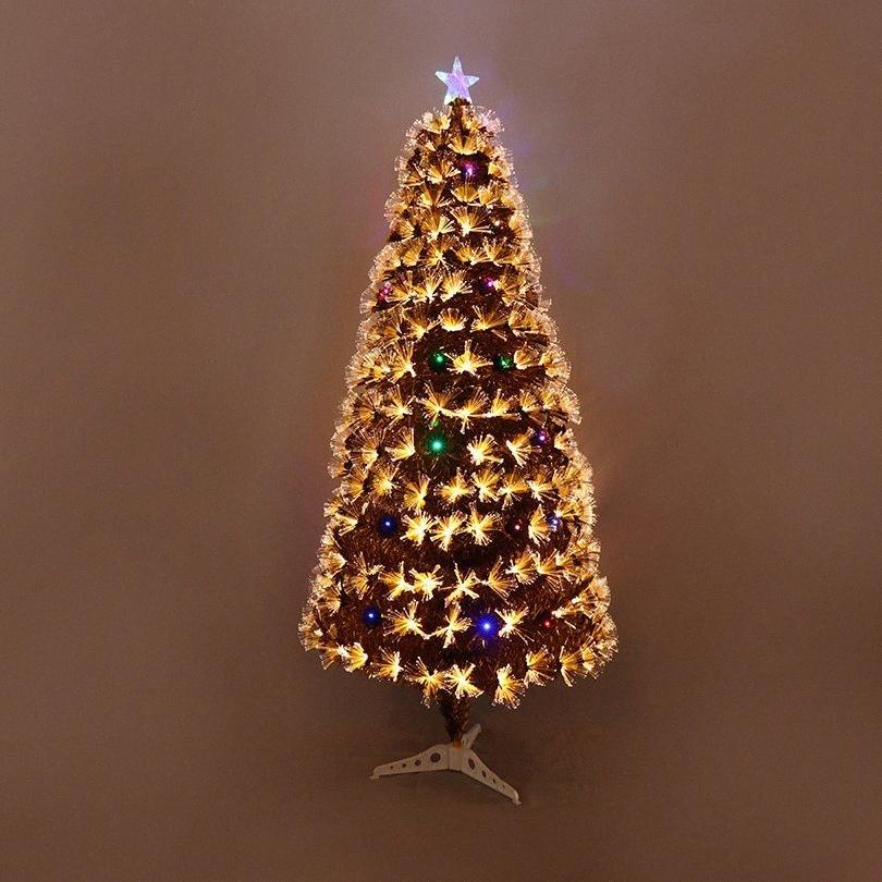 Mehrfarbige Optical Fiber Baum 1.8m Verschlüsselung Simulation Optical Fiber Baum DIY Kunststoff LED dekoratives XAVX #