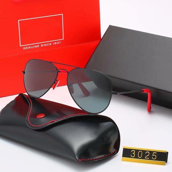 Diseño de lujo venta caliente moda gafas de sol mujeres hombres gafas de sol marca al aire libre conducción gafas UV400 Gafas de metal marco de metal Lente de cristal polaroid