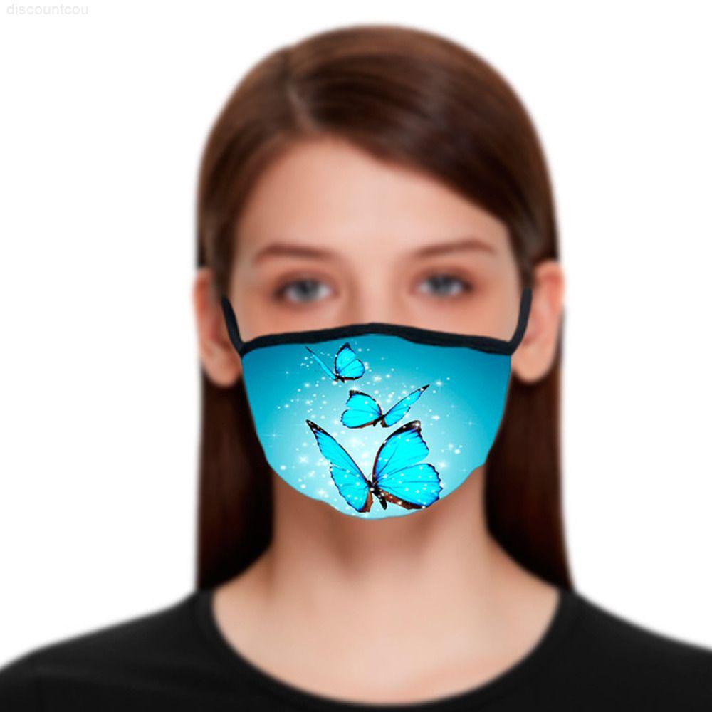 Rosto borboleta impermeável lavável design reutilizável pano de venda quente máscara anti dust máscara rosto máscara capa protetora boca mzq
