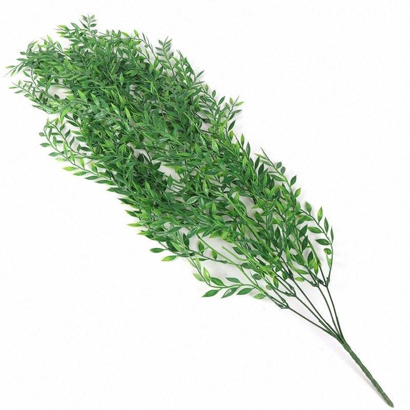 94cm 5 Forks artificielle rotin Faux feuilles Tenture rotin céladon Feuilles de vigne Plantes jardin mariage Décoration RZAC #