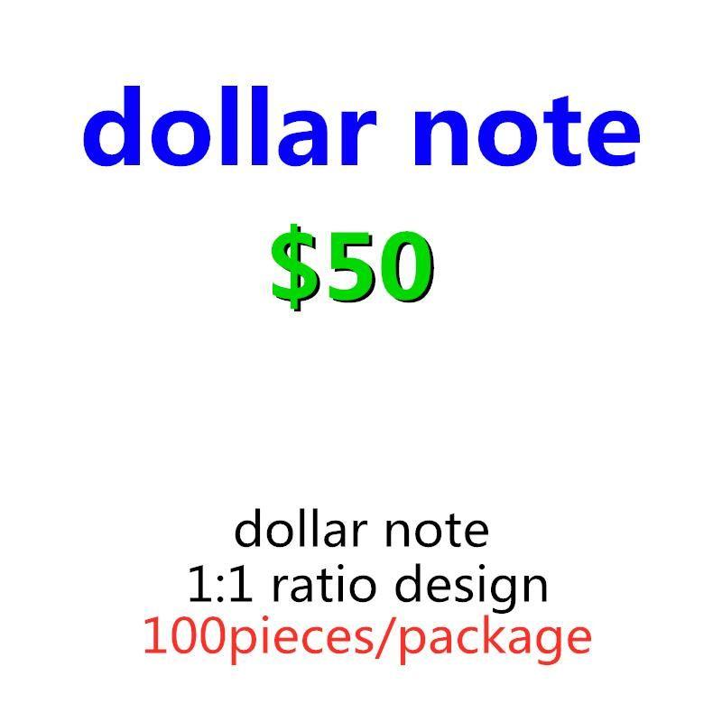 Bar Prop Billet Money Faux Paper Game 50 Dollar Nightclub Más realista Película Play Money Fiesta EE.UU. Juguetes para adultos 23 Niños OHVOF