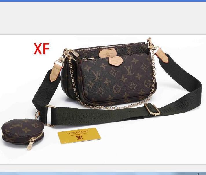 Verkauf Set Designer-Taschen Frauen Umhängetasche echtes Leder Luxus-Handtaschen Geldbörsen Designer Dame Tragetaschen Geldbörse drei Artikel xxx F285