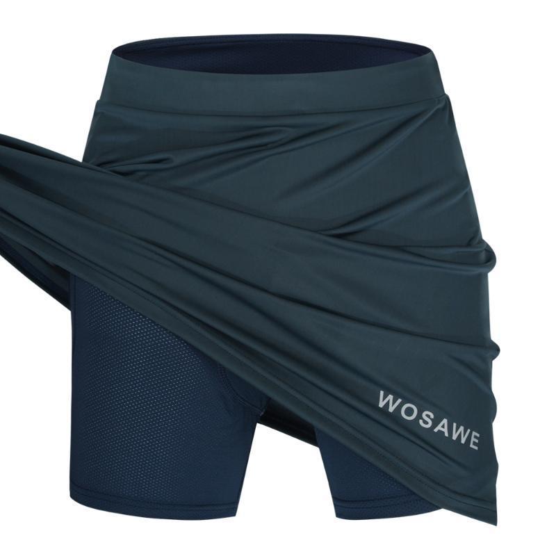 bolso Ciclismo Saias Shorts Dentro do WOSAWE Mulheres com LINGERIE acolchoado Underpant bicicleta saia Roupa Downhill Shorts