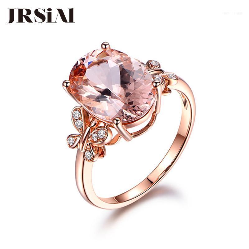 Кластерные кольца Jrsial Rose Gold Color Collected кольцо для ювелирных изделий Ring1