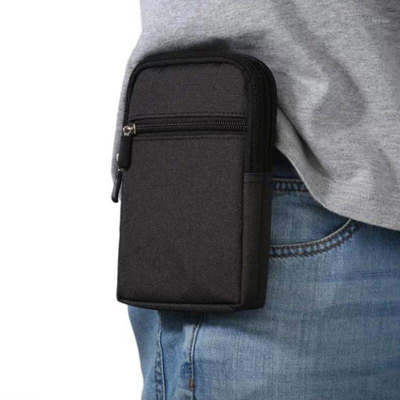 Uomini in vita Borsa Casual Durable Panta in vita Cintura in tela Bag multifunzione Zipper impermeabile per l'usura all'aperto1