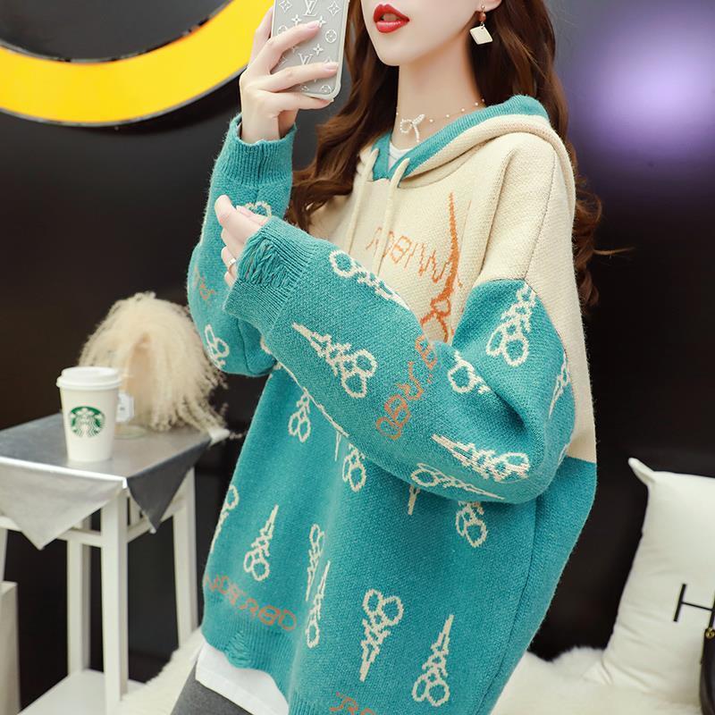 loose usura di autunno 20201017 con cappuccio da donna cappotto maglione 2020 nuova giapponese lavorato a maglia Top