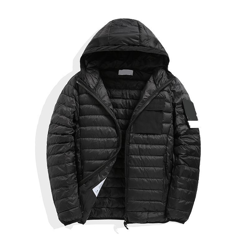 Abrigo con capucha de invierno de los hombres con capucha Abrigo con capucha ajustado Cálido Outerwear Casual Slim Street Windatry Brecha de moda europea y americana
