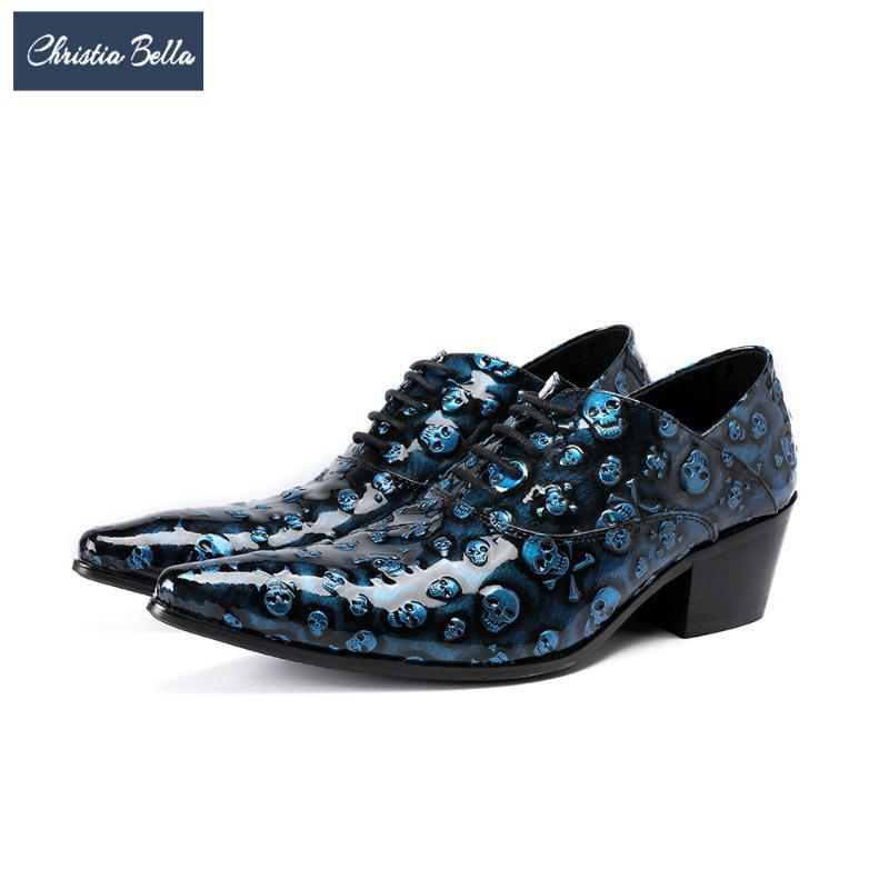 Christia Bella Designer homens de negócios vestido sapatos de couro genuíno Homens Oxfords sapatos italianos Sapato de bico fino Brogue Tamanho Grande