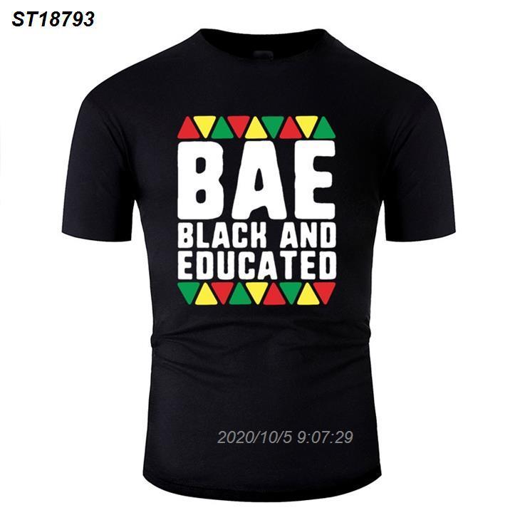 Più nuovo modo Bae e nero Camicia Educato African Pride T per i Mens Umorismo raffreddano Impressionante uomini e donne T-shirt 116510