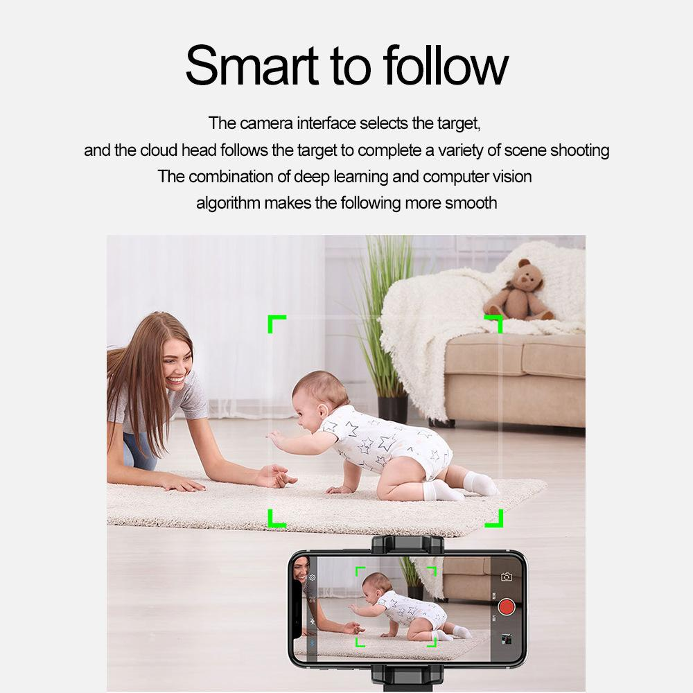 Smartphone Selfie Gimbal 360° Rotation Auto Face & Object Follow Up Selfie Stick For Photo Vlog Live Video Record