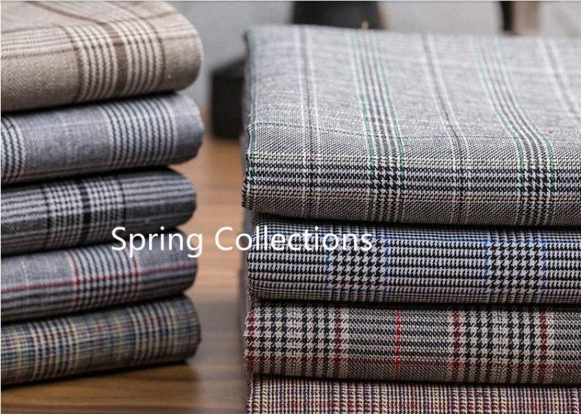 145 * 100cm coton teint de haute qualité welsh tissu à carreaux pour un pantalon de houndstooth manteau de vêtements de mode couvrir tissu 240g travail manuel / M N3UR #