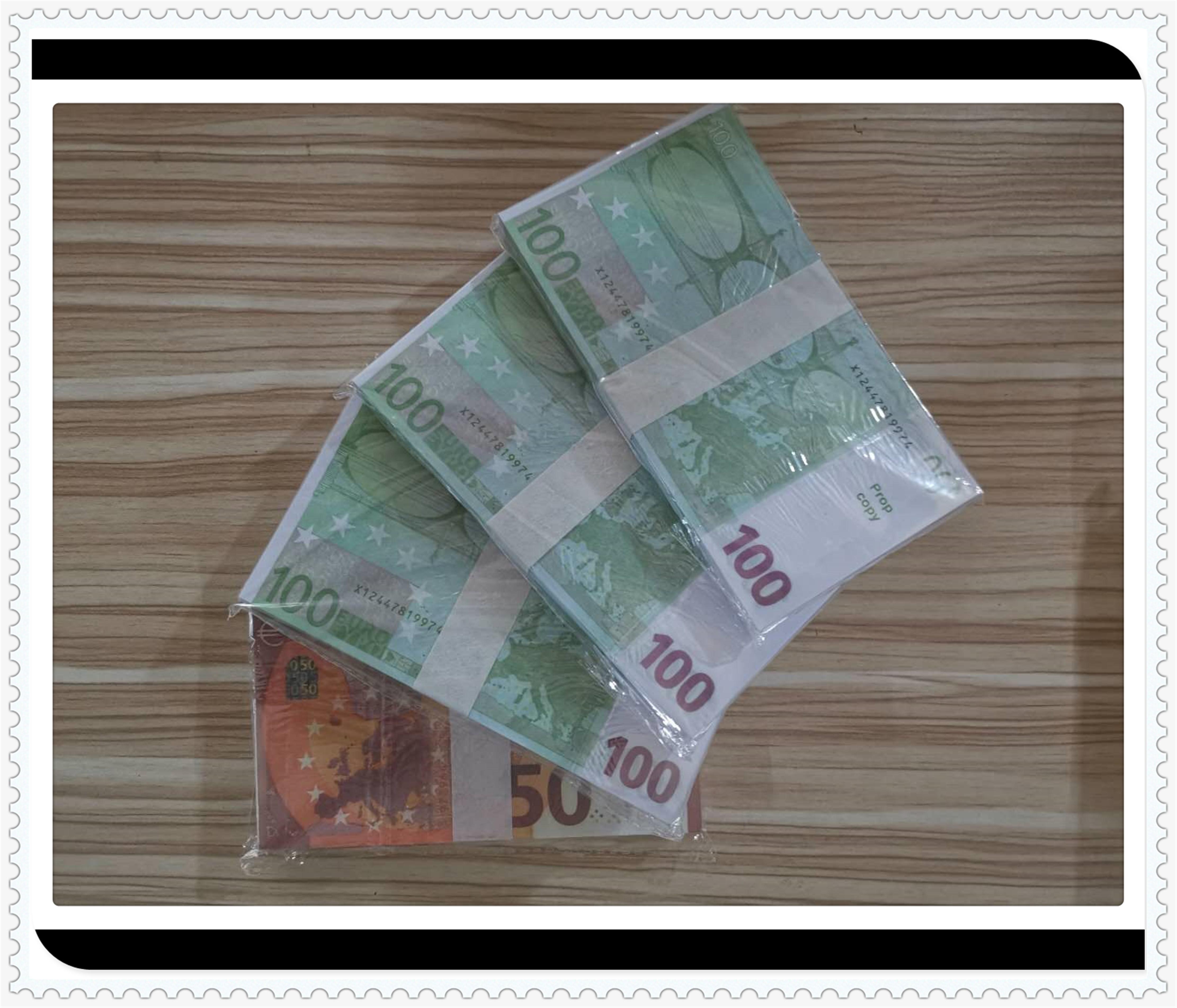 2020 hot venda 100 euros Simulação de notas de euro prop moeda A127 moeda do jogo DIY adereços jogo euro prop moeda