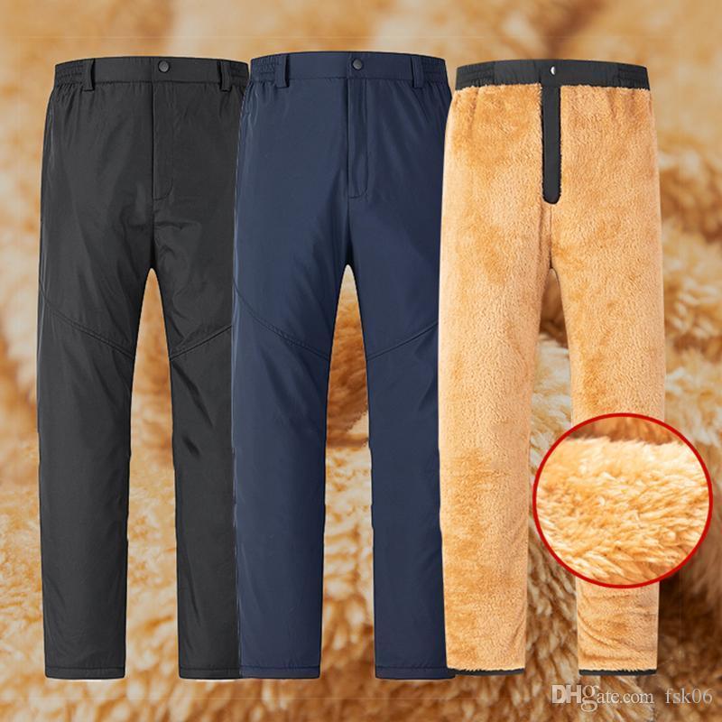 Pantaloni in velluto Uomo Inverno Fleece Pantaloni tattici caldi Pantaloni invernali Pantaloni da uomo Inverno Pantaloni Casual Listola in lana Spessa Pantaloni antivento Uomo