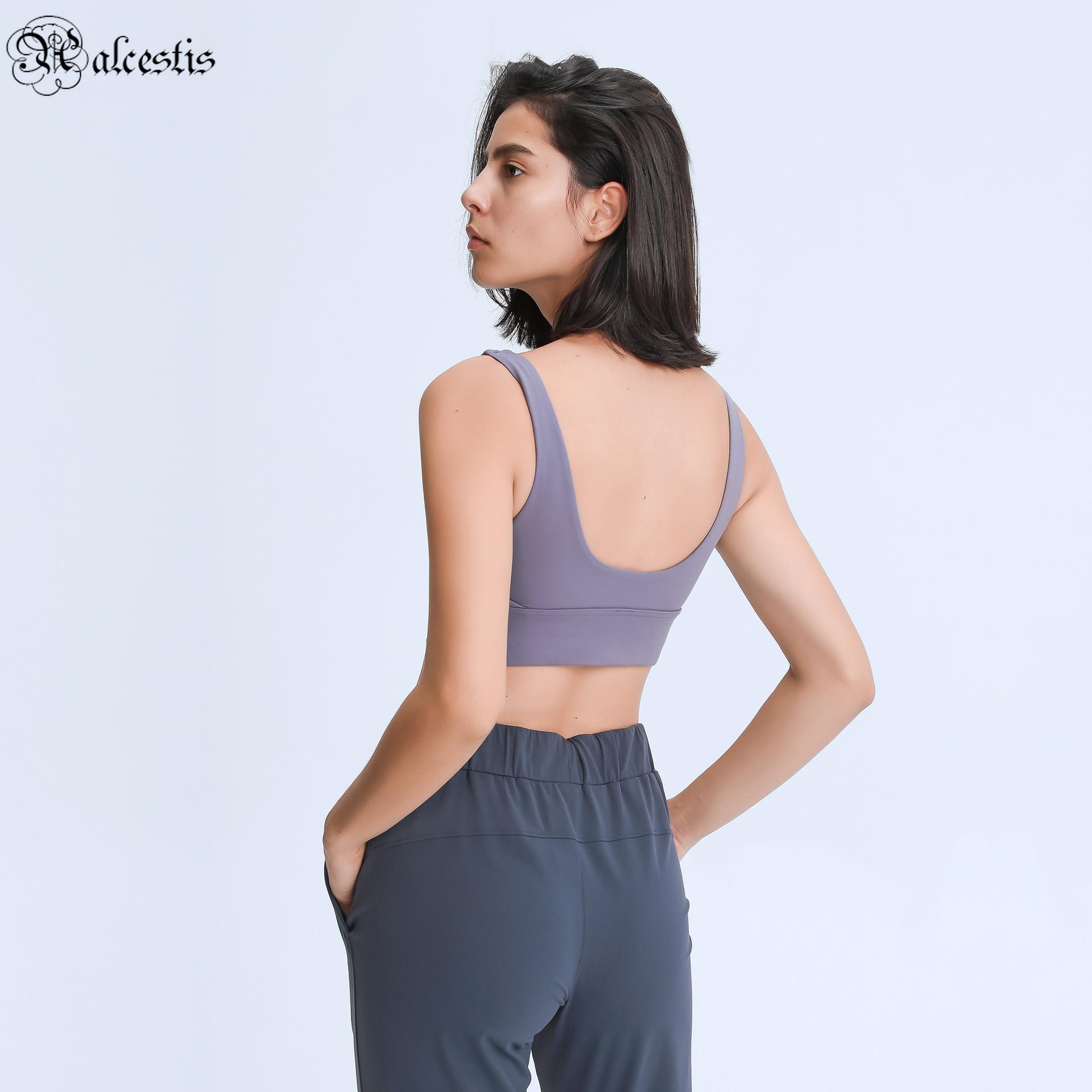 U-shaped base elástica beleza back yoga sutiã sutião apoio à prova de choque à prova de choque exercício esportes roupas underwear mulheres