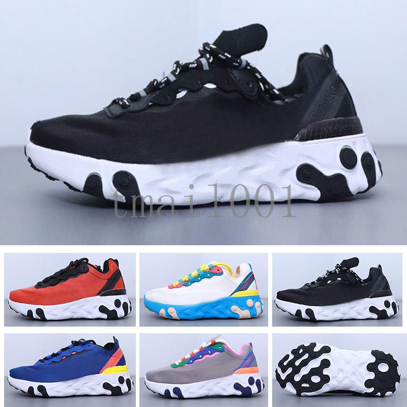 Designer Kids React Element 55 87 Boys Girls Running Shoes Outdoor Children Sneakers Baby Trainers Breathable Lightweight Christmas MYG-5
