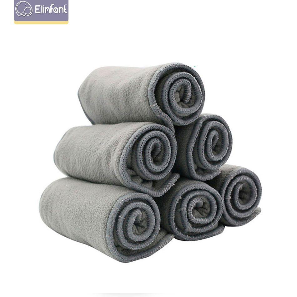 Elinfant de qualité des couches pour bébés charbon de bambou Liner couche de couche 2 + Insert 2layers charbon de bambou pour bébé Couches Lavables 1 016