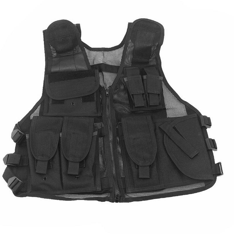 Охотничьи куртки тактические Molle Vest Mag Colbster Combat Combat Black Black Paintball CS Wargame Одежда Аксессуары для одежды