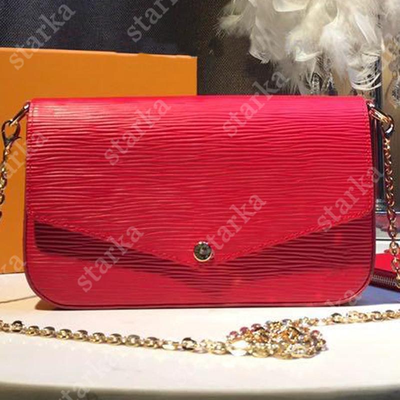 Original Hohe Qualität Designer Taschen Mode Satteltasche Handtaschen Frauen Tasche Umhängetaschen Crossbody Taschen Brieftasche Telefon Tasche Wasser Wellige Brieftasche