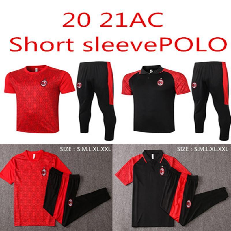 2020/21 Paquetta Paquetta Bennacer Rebic Football Jersey Jersey Maglia da Calcio Calhanoglu Homme Polo Costume à manches courtes