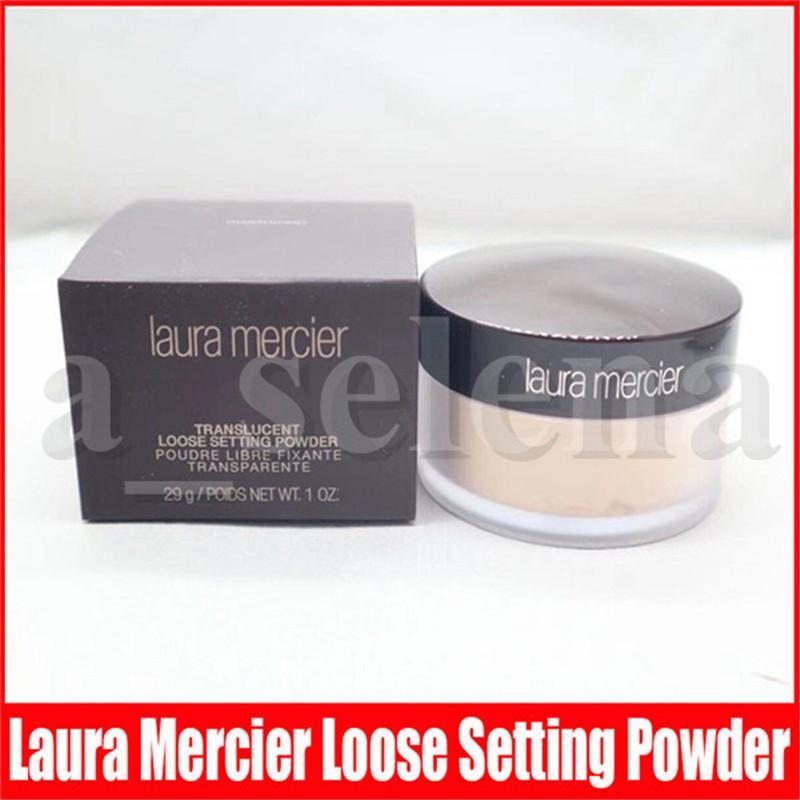Laura Mercier allentato Setting Powder impermeabile a lunga durata Idratante Viso Loose Powder Translucent Maquiagem trucco Black Box