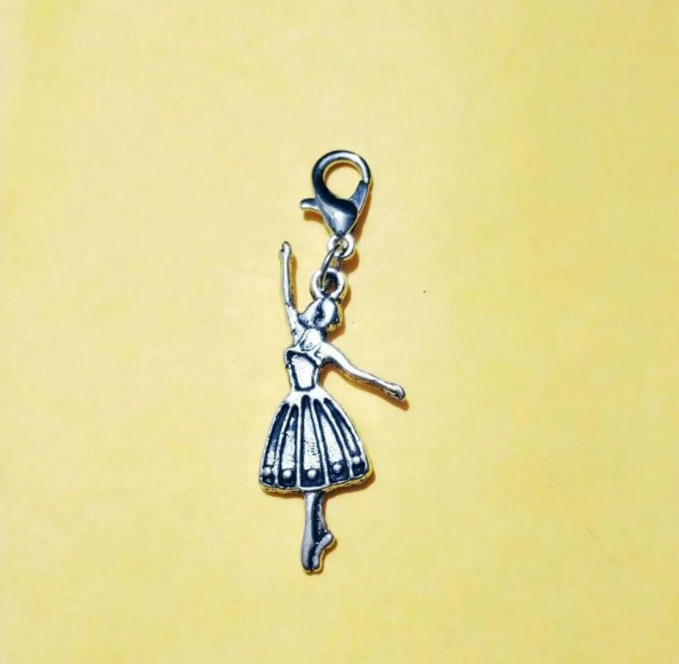 HOT NEW 50pcs Fast delivery Fashion Vintage Dancing / ballerina girl Charms Pendants For Necklace/Bracelet Jewelry Accessories - 225