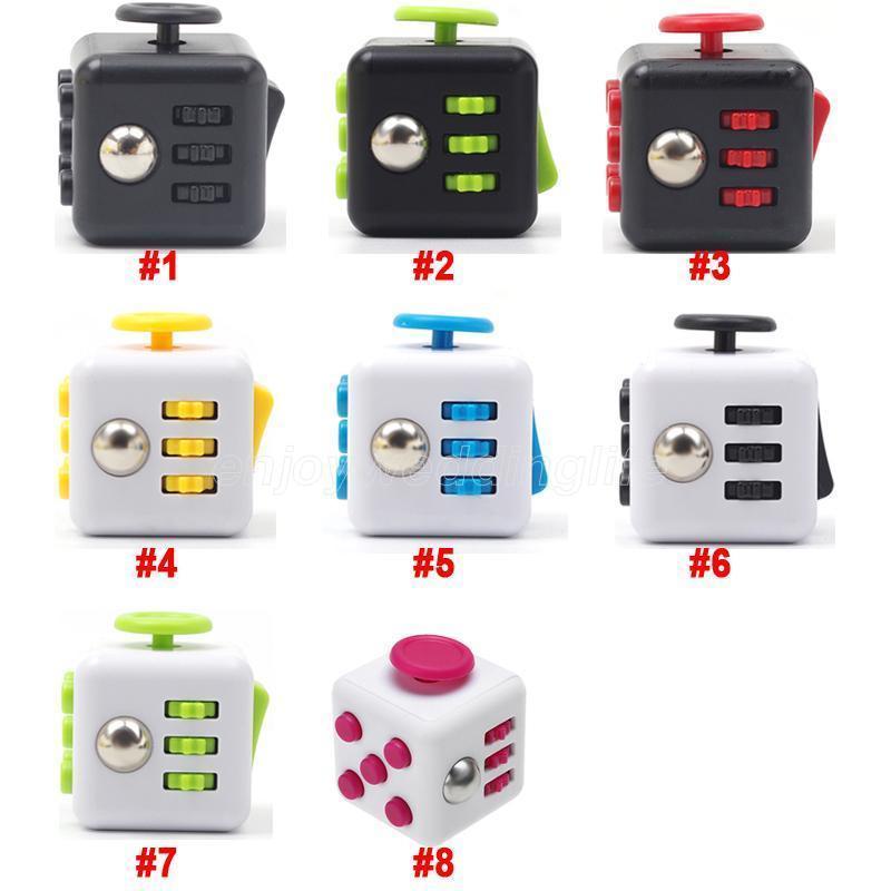 2021 Fidget Cube Alivio del estrés Juguete sensorial Fidget Juguetes para niños Adultos Fidget Toy Sensory Juguete Autismo Necesidades especiales Ansiedad Estrés Alivio
