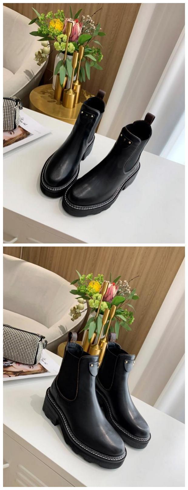 Clásico de la manera BEAUBOURG tobillo botas de zapatos de las mujeres botas de invierno muchachas de las señoras de seda de la piel de vacuno de alta Top para mujer plana del cargador del tobillo