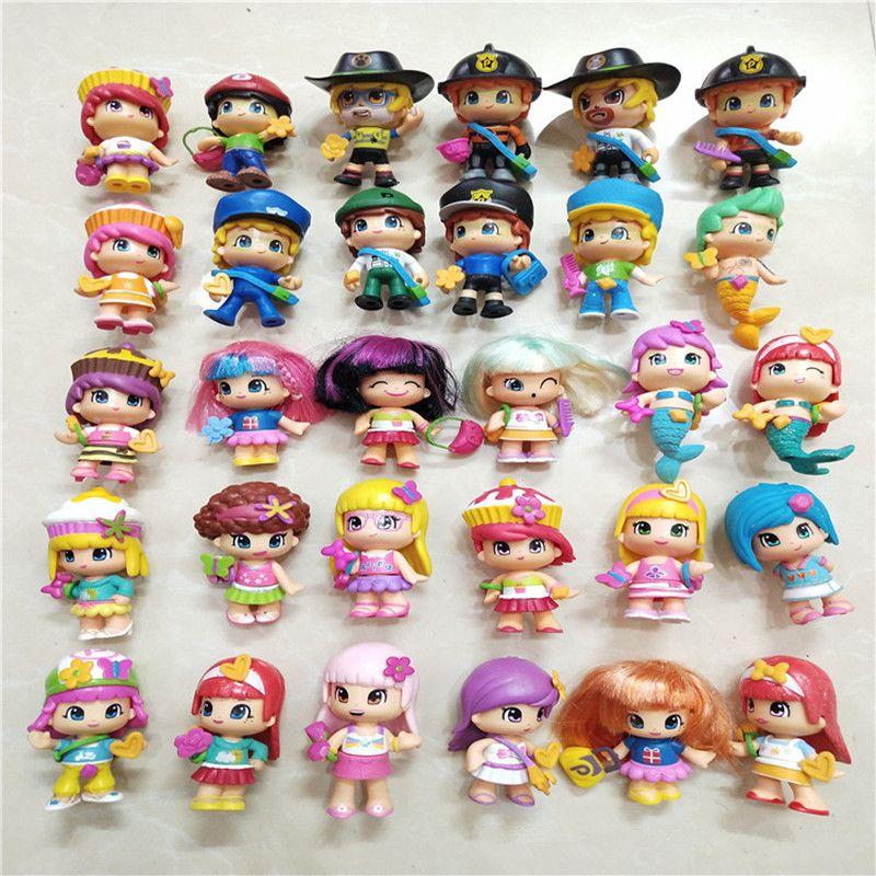 10pcs DIY Doubleface Pinypon action figure Dolls for Kids Cartoon Detachable Figuras Toys Birthday Christmas Gift